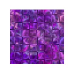 Purple Squares Small Satin Scarf (square) by KirstenStar