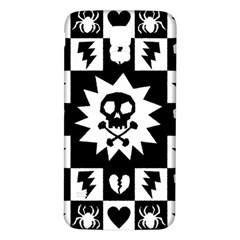 Goth Punk Skull Checkers Samsung Galaxy S5 Back Case (white) by ArtistRoseanneJones