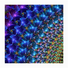 Blue Sunrise Fractal Medium Glasses Cloth by KirstenStar