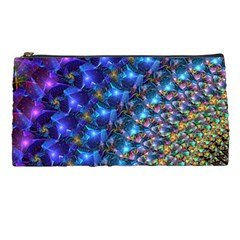 Blue Sunrise Fractal Pencil Case by KirstenStar