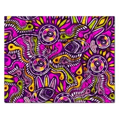 Purple Tribal Abstract Fish Jigsaw Puzzle (rectangle) by KirstenStar