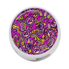 Purple Tribal Abstract Fish 4 Port Usb Hub (two Sides) by KirstenStar