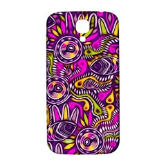 Purple Tribal Abstract Fish Samsung Galaxy S4 I9500/i9505  Hardshell Back Case by KirstenStar