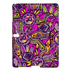 Purple Tribal Abstract Fish Samsung Galaxy Tab S (10 5 ) Hardshell Case  by KirstenStar