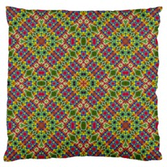 Multicolor Geometric Ethnic Seamless Pattern Large Cushion Case (single Sided)  by dflcprints