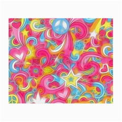 Hippy Peace Swirls Glasses Cloth (small) by KirstenStar