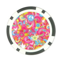 Hippy Peace Swirls Poker Chip (10 Pack) by KirstenStar