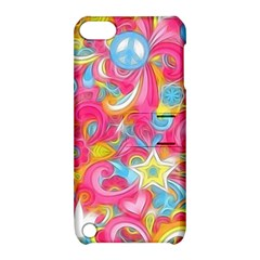 Hippy Peace Swirls Apple Ipod Touch 5 Hardshell Case With Stand by KirstenStar