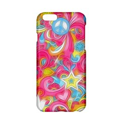 Hippy Peace Swirls Apple Iphone 6 Hardshell Case by KirstenStar