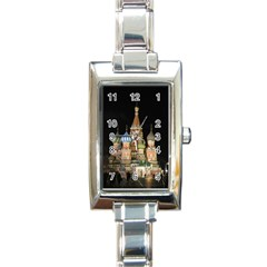 Saint Basil s Cathedral  Rectangular Italian Charm Watch by anstey