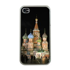 Saint Basil s Cathedral  Apple Iphone 4 Case (clear) by anstey