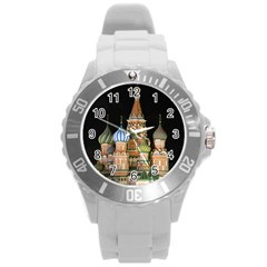 Saint Basil s Cathedral  Plastic Sport Watch (large) by anstey