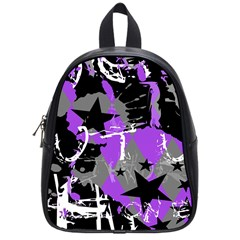Purple Scene Kid School Bag (small) by ArtistRoseanneJones