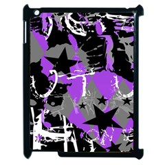 Purple Scene Kid Apple Ipad 2 Case (black) by ArtistRoseanneJones