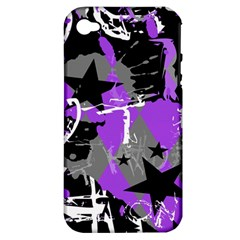 Purple Scene Kid Apple Iphone 4/4s Hardshell Case (pc+silicone) by ArtistRoseanneJones