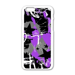 Purple Scene Kid Apple Iphone 6 White Enamel Case by ArtistRoseanneJones