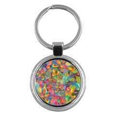 Colorful Autumn Key Chain (round) by KirstenStar