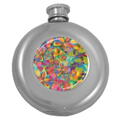 Colorful Autumn Hip Flask (round) by KirstenStar