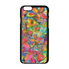 Colorful Autumn Apple Iphone 6 Black Enamel Case by KirstenStar