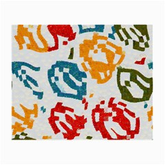 Colorful Paint Stokes Small Glasses Cloth by LalyLauraFLM