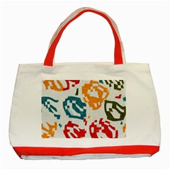 Colorful Paint Stokes Classic Tote Bag (red) by LalyLauraFLM