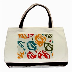 Colorful Paint Stokes Basic Tote Bag (two Sides) by LalyLauraFLM