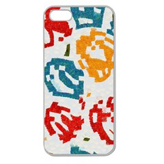 Colorful Paint Stokes Apple Seamless Iphone 5 Case (clear) by LalyLauraFLM