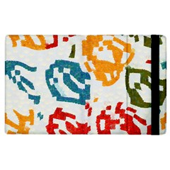 Colorful Paint Stokes Apple Ipad 2 Flip Case by LalyLauraFLM