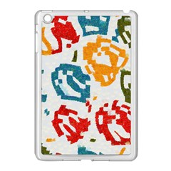 Colorful Paint Stokes Apple Ipad Mini Case (white) by LalyLauraFLM