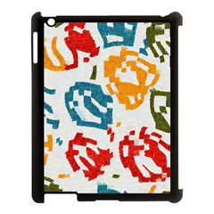 Colorful Paint Stokes Apple Ipad 3/4 Case (black) by LalyLauraFLM