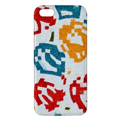 Colorful Paint Stokes Apple Iphone 5 Premium Hardshell Case by LalyLauraFLM