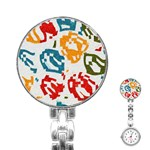 Colorful paint stokes Stainless Steel Nurses Watch Front