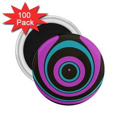 Distorted Concentric Circles 2 25  Magnet (100 Pack)  by LalyLauraFLM