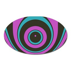 Distorted Concentric Circles Magnet (oval) by LalyLauraFLM