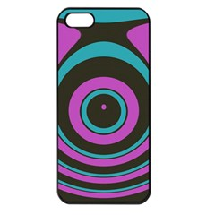 Distorted Concentric Circles Apple Iphone 5 Seamless Case (black) by LalyLauraFLM
