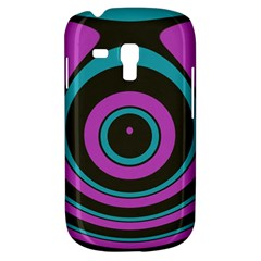 Distorted Concentric Circles Samsung Galaxy S3 Mini I8190 Hardshell Case by LalyLauraFLM