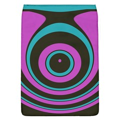 Distorted Concentric Circles Removable Flap Cover (l) by LalyLauraFLM