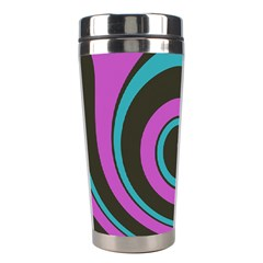 Distorted Concentric Circles Stainless Steel Travel Tumbler by LalyLauraFLM