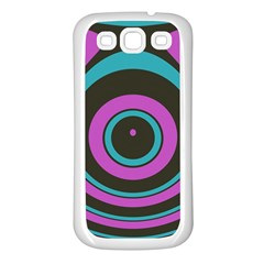Distorted Concentric Circles Samsung Galaxy S3 Back Case (white) by LalyLauraFLM