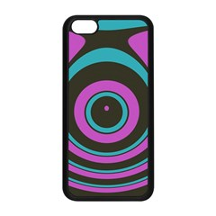 Distorted Concentric Circles Apple Iphone 5c Seamless Case (black) by LalyLauraFLM