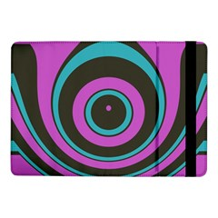 Distorted Concentric Circles	samsung Galaxy Tab Pro 10 1  Flip Case by LalyLauraFLM