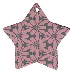 Pink Flowers Pattern Star Ornament (two Sides) by LalyLauraFLM