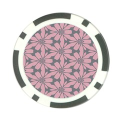 Pink Flowers Pattern Poker Chip Card Guard (10 Pack) by LalyLauraFLM