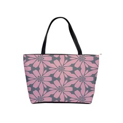 Pink Flowers Pattern Classic Shoulder Handbag by LalyLauraFLM