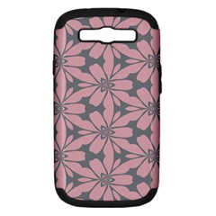 Pink Flowers Pattern Samsung Galaxy S Iii Hardshell Case (pc+silicone) by LalyLauraFLM