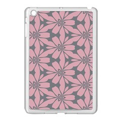 Pink Flowers Pattern Apple Ipad Mini Case (white) by LalyLauraFLM