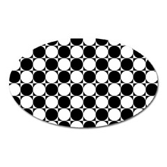 Black And White Polka Dots Magnet (oval)
