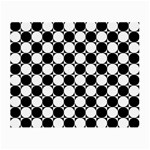 Black And White Polka Dots Glasses Cloth (Small) Front