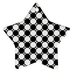 Black And White Polka Dots Star Ornament (two Sides) by ElenaIndolfiStyle