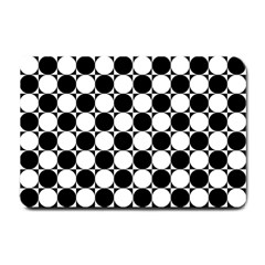 Black And White Polka Dots Small Door Mat